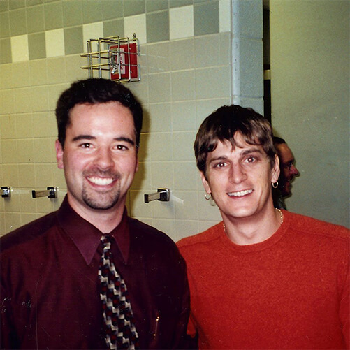 Dr. Bill Herholz and Rob Thomas of Matchbox 20
