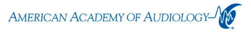 Logo for the American Academy of Audiology