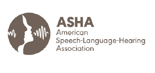 Logo for ASHA, the American Speech-Language-Hearing Assoication